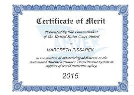 Adk Maritime Pte Ltd Margreth Pissarek Certificate Of Merit