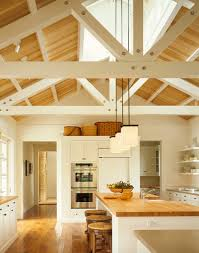 rafters living lighting. Interior Living Spaces-Exposed Ceiling Trusses-30-1 Kindesign Rafters Lighting C