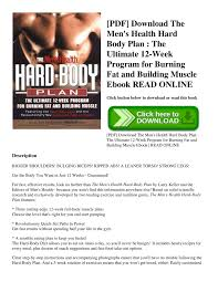 pdf the men s health hard body plan the ultimate 12 week program for burning fat and building muscle ebook read pdf docdroid