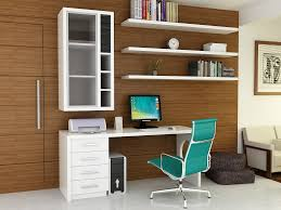 cute simple home office ideas. White Brown Color Wooden Home Office Blue Chair Design Cute Simple Ideas