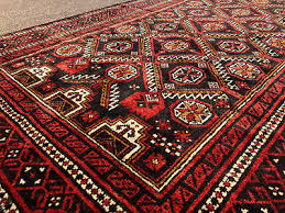 4x7 black red persian rug wool hand knotted heriz iran antique oriental 4x6 4x8