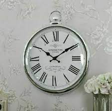 large wall clock pocket fob watch round