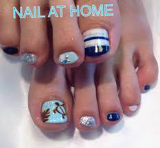 夏フットネイル Nail At Home