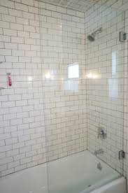 bathroom subway tile half shower glass 3