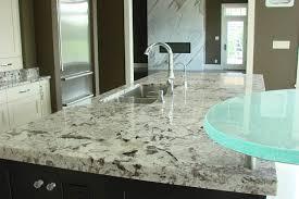 custom granite countertop with bio glass bar top in hamilton