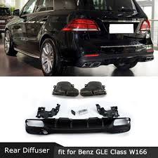 Maybe you would like to learn more about one of these? For Mercedes Benz Gle Class W166 Gle63 Amg Suv 2016 2018 Rear Diffuser Lip With Exhaust Tips Pp Back Bumper Hugger Bumpers Aliexpress