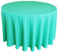108 round polyester tablecloth tiff blue aqua blue 52818 1pc pk