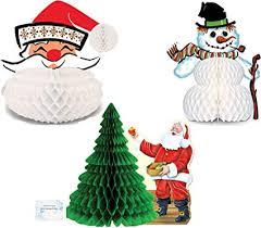 Los juegos de mesa más divertidos. Amazon Com Juego De 3 Centros De Mesa De Navidad Vintage Decoracion Vintage Para Fiestas De Navidad Y Suministros Vintage Para Fiestas De Navidad Toys Games