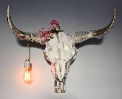 Skull Bedroom Accessories Longhorn Skull Etsy