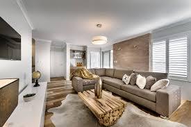 chunky wood coffee table sofa rug modern home in wandi perth within