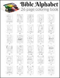 In this section we have collected coloring that help kids master the alphabet they will help to remember the alphabet, numbers, and account on the associative level. Bible Alphabet Coloring Pages 26 Pages Teacher Talking Points Sunday School Store