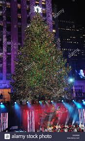 Everett Christmas Lights New York Ny Usa 4th Dec 2013 Christmas Tree On Location
