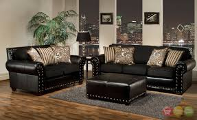 Delightful Black Living Room Sets Awesome Furniture Decorating - Leather livingroom
