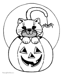 Small Picture Halloween Coloring Pages Cats Dogs and Bats