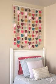honeybee vintage diy paper heart wall art adorable in a