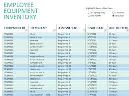 ms excel inventory template download employee equipment excel inventory management template