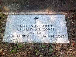 Myles Gordon Rudd (1929-2015) - Find A Grave Memorial