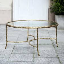 regency gilt bronze coffee table round marked for glass top