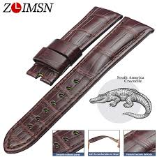 <b>ZLIMSN Crocodile</b> Leather Watch Band Quick Installation Mens ...