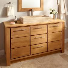 60 Bathroom Cabinet Home Bathroom 60 Caldwell Teak Double Vessel Sink Vanity