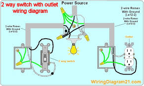 2 way light switch wiring diagram house electrical wiring diagram how to wire a switch outlet combo with power constantly supplied to the outlet at Light Switch Outlet Wiring Diagram