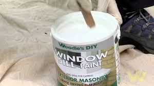 how to paint a masonry window sill