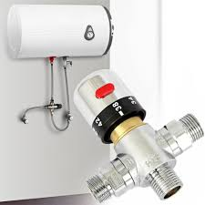 Hot Water Heater Accessories Aliexpresscom Buy Brass Thermostatic Valve Temperature Mixing