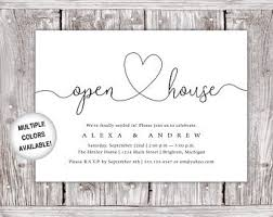 Invitation To Open House Open House Invites Etsy