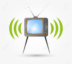 Retro Tv Online Retro Tv In The Wooden Case Vector To Design Programs Online