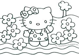 Coloring Hello Kitty Coloring Pages On Free Print Hello Hello Kitty