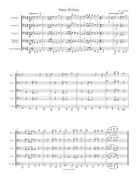 happy trombone sheet music happy birthday for trombone quartet or quintet t j w pepper