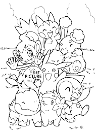 Pokemon Characters Anime Coloring Pages For Kids Printable Free