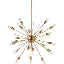 palwa sputnik chandelier goldplated crystal pendant lamp