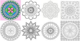 Small Picture The Mini Mandala Coloring Book Coloring Pages