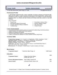 System Administrator Resume Cool System Administrator Resume Sample