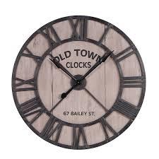 large wood metal skeleton wall clock circle oval