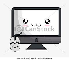 Kawaii Tecnologia Computer Disegno Cartone Animato