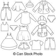 Clothes Template Clothing Templates Vector Clipart Royalty Free 36 888 Clothing