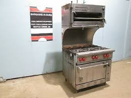 nat gas 6 burners stove w oven