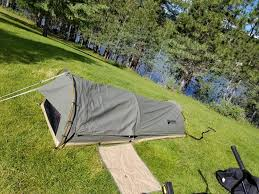 Swag 1-Person Canvas Tent with Free 2-inch Camping Pad