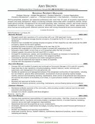 Interesting Apartment Manager Resume Examples Regional Property