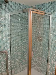 tiled corner shower stalls. Bathroom. Stainless Steel Frame Small Glass Shower Stall Combined With Blue Mosaic Wall Panel Tiled Corner Stalls T