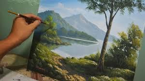 acrylic landscape painting drawing art collection acrylic landscape painting lesson morning in lake by jmlisondra