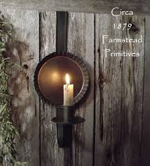 primitive lighting ideas. Primitive Early Look Over The Door Tin Reflector Candle Holder Sconce Lighting Ideas