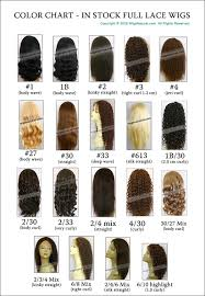 Lace Front Color Chart Color Chart In Stock Full Hand Tied Wigs And Custom Remy