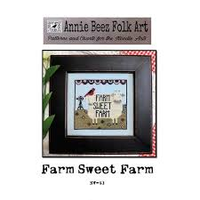 Farm Sweet Farm Cross Stitch Pattern Annie Beez Folk Art