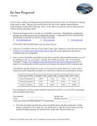 auto loan calculator bankrate com car loan assignment