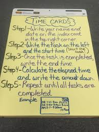 Timecard Rounding Chart Anchor Chart Time Card Elapsed Time For Third Grade Math