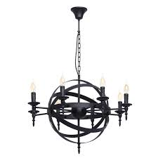 pendant light candle black metal modern style living room 8 bulbs co uk lighting