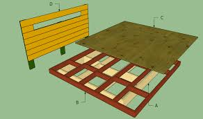 platform bed plans designs inspiration floating frame diy howtospecialist how to build step beds